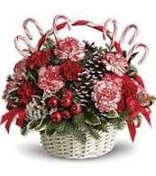 Christmas Candy Cane Basket