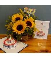BIRTHDAY LovePop Card and Arrangement