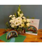 SYMPATHY ANIMAL LovePop Card with Arrangement