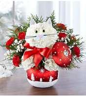 Feline in Starry Night Ornament