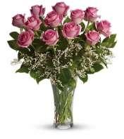 Lavender roses arranged