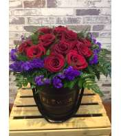 Flower box of roses