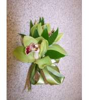 Green Cymbidium Orchid Corsage