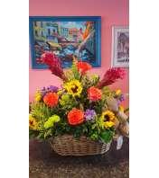 Virgin Islands Tropical Flower Basket