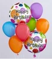 Simple Happy Birthday Balloon Bouquet