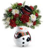 Cookie Jar Snowman