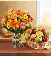 Fanciful Fall Floral & Fruit Bundle