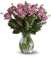 Lavender Wishes - Dozen Premium Lavender Roses