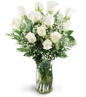 Dozen White Roses