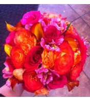 Bright Orange Rose Bouquet