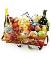 Fruit & Gourmet Wine Basket