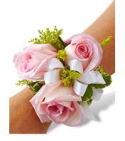 Romantic Pink Rose Corsage