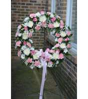 Standing Pink Wreath