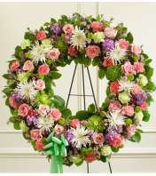 Pastel Mixed Flower Wreath