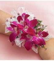 Purple Dendrobium Orchid Corsage