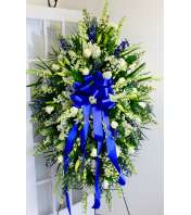 Exquisite Blue & White Sympathy Spray