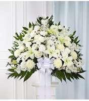 Heartfelt Sympathies™ White Standing Basket