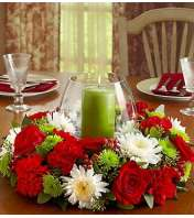 Holiday Centerpiece with Hurricane & Pillar C