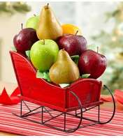 Fruit Filled Christmas Sleigh