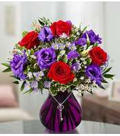 Key To My Heart® in a Purple Vase