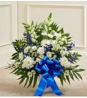 Blue and White Sympathy Floor Basket