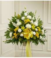 Heartfelt Sympathies Yellow Basket