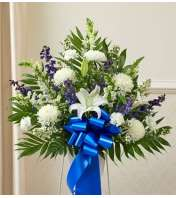 Blue and White Sympathy Standing Basket