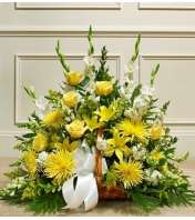 Yellow and White Mixed Fireside Basket