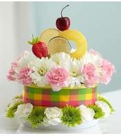 Fresh Flower Cake™ Fruit Cake