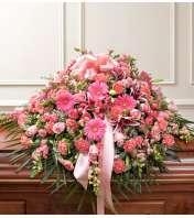 Cherished Memories Half Casket Cover - Pink