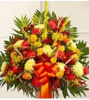 Standing Mixed Basket in Fall Colors