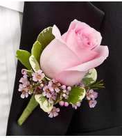 Pink Boutonniere