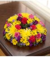 Cremation Wreath - Multicolor Bright