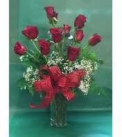One Dozen Long Stem Roses
