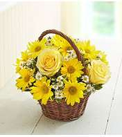 Basket of Sunshine™ with Roses