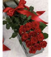 1 doz Boxed Premium Red Roses