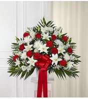 Heartfelt Sympathies™ Red & White Standing Basket