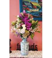 Orchids, Roses and Lilies