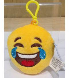Emoji Plush Key Chain - Laughing