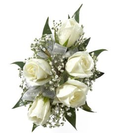 White Rose Wrist Corsage #2 pick up only