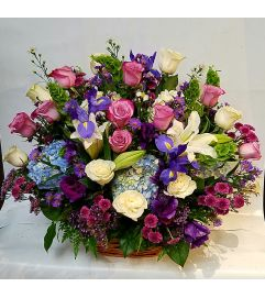 Pastel Purple Floral Basket
