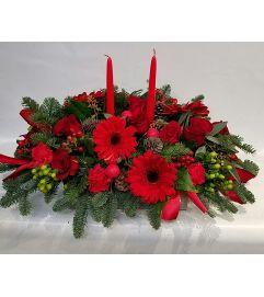 Red Christmas Center Piece
