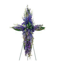 Forever Cherished Lovingly Lavender Cross