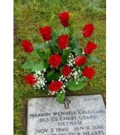 Classic Rose Gravesite Arrangement