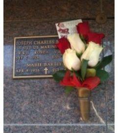 Rose For The Wall Gravesite Arrangement