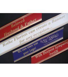 Custom Printed Banner for Funeral Tribute