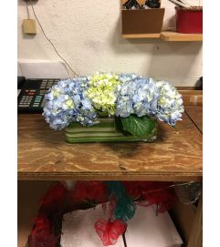 Wedding Center Piece- Blue Hydrangea
