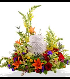 Beaming Blooms Cremation Urn Arrangements