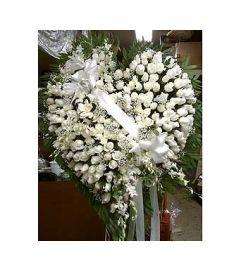 Heart of White Roses