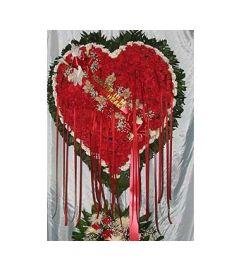 Bleeding Heart with White Carnation Border